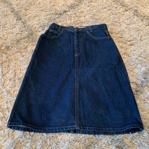 Calvin Klein vintage blue jean skirt size 8